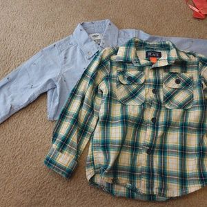 2 Toddler Boys long sleeve shirts 2T